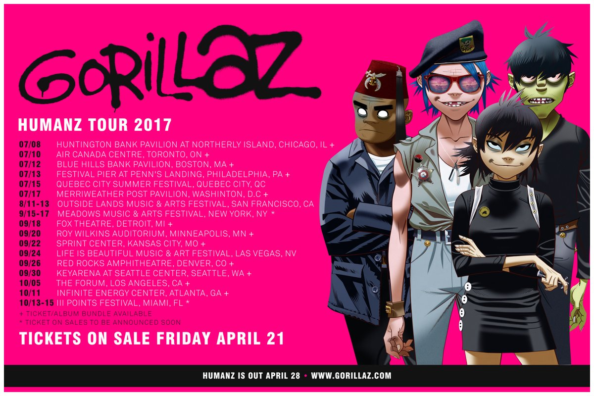 Gorillaz North America Tour